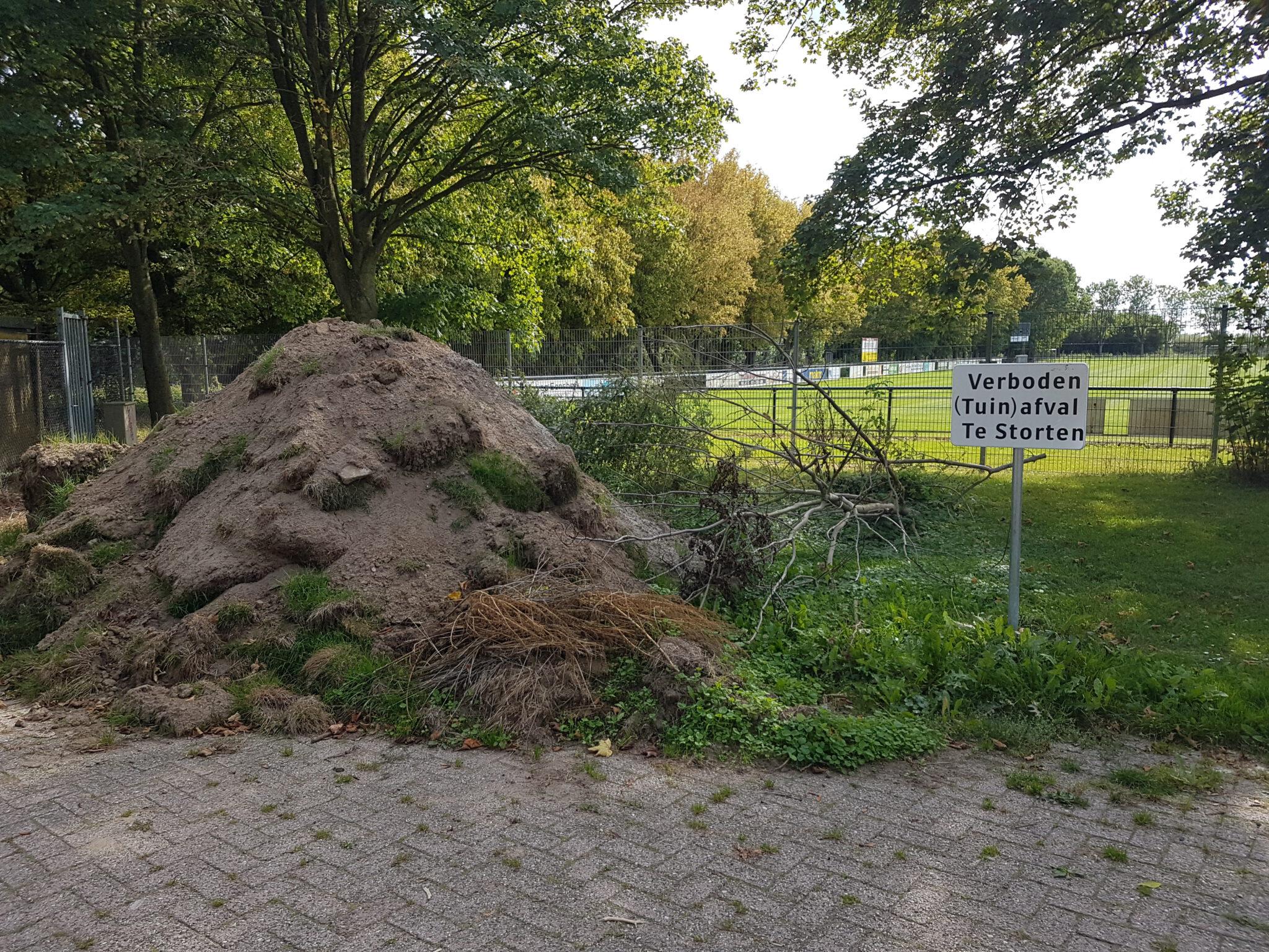 Verboden tuinafval te storten